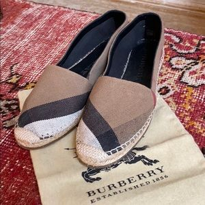 Burberry Shoes - Burberry Hodgeson Canvas Espadrilles - never worn